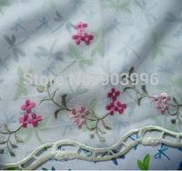 Custom the gauze curtain window  embroidery screens Taylor curtain panel Slub yarn 100cm W* 52cm H coffee curtain  head piece