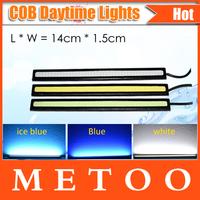 Black Border 14CM update high quality COB LED Daytime Running Light 100% Waterproof LED DRL car lights 2PCS/LOT