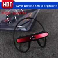 HD90 Bluetooth mobile wireless bluetooth sport earphones music Headphone stereo sports earplugs neckband free shipping