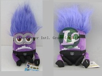 High Quality 10pcs/lot  Purple 2D Despicable ME Movie Jorge and Steward Plush Toy Purple 20cm Minion NWT With Tags