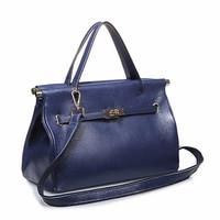 Free Shipping (royalblue ) Genuine leather  Hotsale Office Lady  type messenger bag  handbag
