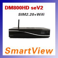 1pc DM800se V2 DVB-S satellite Receiver DM800HD se V2 with SIM2.20 300Mbps Wifi 1GB Flash 521MB RAM  Web browser Free Shipping