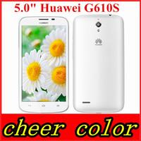 "Free shipping Original Huawei G610s G610 Quad Core Cell Phone MTK6589M 1.2GHZ 5.0"" 960x540 1GB RAM 5mp GPS muti language/Kate"