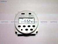 AC 110V Round Digital LCD Power Programmable Timer Time  Relay Switch