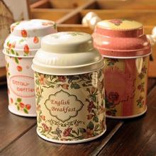 6.7*9.8cm 6pcs Tin box Flower tea small round tin candy bin storage bin metal case tins bins cans(China (Mainland))