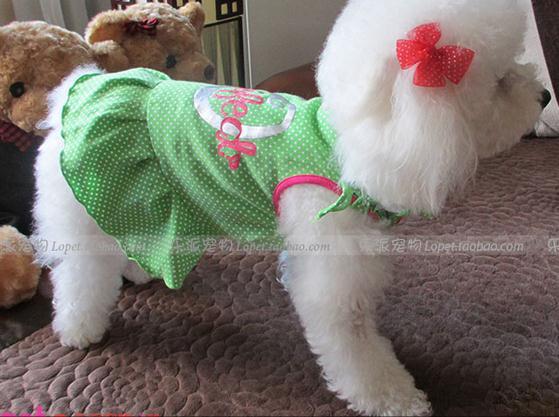 Small dog clothes 2015 summer pet skirt mini dog doggie pup puppy doggy dress little dog clothing(China (Mainland))