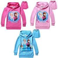 Free shipping 2-8yrs Baby boys girls Hoodies  Frozen outerwear Child Long sleeve hoodies Kid apparel Cartoon sweatshirts