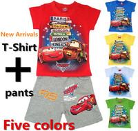 Summer short-sleeve 100% cotton t-shirt shorts 5 knee-length pants 2 twinset