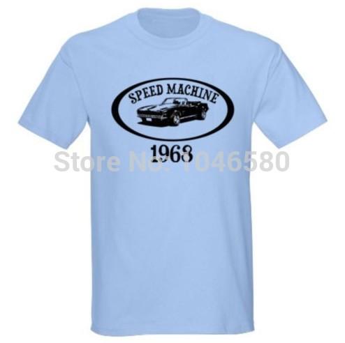 2014 New arrival men/women t shirt 68 1968 CHEVY CAMARO SPEED MACHINE CLASSIC CAR MUSCLE T-SHIRT fashion design mens cotton tee(China (Mainland))