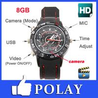 2014 Waterproof 8GB Spy Watch DVR DV Video Recorder Pinhole Hidden Mini Camera Camcorder