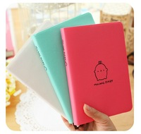 Cute Bunny Faux Leather surface notepad schedule diary school office  notebook free shipping