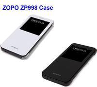 Free Shipping Original Smart Flip Leather Case for ZOPO ZP998 Black/ White