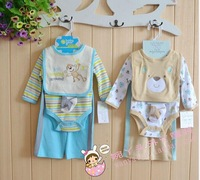 Foreign trade of the original single original single three-piece children's clothing suit baby Romper baby coveralls suit