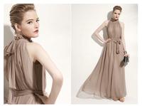 Free shipping 2014 summer new hot fashion collar dress chiffon dress evening dress party dress