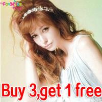 Designer Fashion Elastic Crystal Flower Headband Hairwrap Bride Hair Band  Accessories For Women Girls Jewelry  Free Shipping