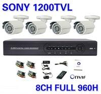 Security Sony 1200TVL Surveillance CCTV System 8ch 960h Full D1 DVR IR Cameras Surveillance System IR Cut Filter 8ch DVR Kit