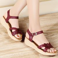 Guciheaven fashion casual leather women sandals, women's fashion casual leather shoes, Summer women's  flat sandals