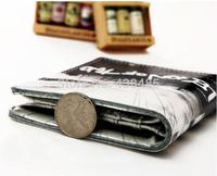 Korean Fashion Print Wallet Famous Brand 100% Cow Skin Genuine Leather Men Short Wallet Male Purse Wholesale MBM114
