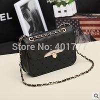 Pretty chain PU bag new 2014 women handbag Korean style vintage design brand casual shoulder shopping bag women messenger bags