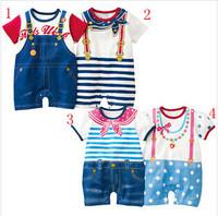 retail new 2013 autumn -summer clothing set,newborn baby/bebe boy romper,sport suit,baby ,navy style gentleman clothes