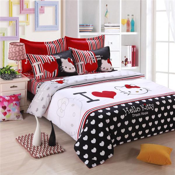 tessili per la casa i ragazzi di biancheria da letto in cotone di alta qualità ciao comforter kitty set letto trapunta impostare la copertina biancheria abbigliamento letto duvet set