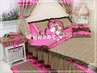 Sunny 2015 new Korean garden princess XBW bedding set quilted duvet cover bedspread pillow cover wedding decoration bedclothes