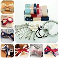 mix material ribbons and cute diy ribbon for hair accessory material,handmade ribbon set and ribbns