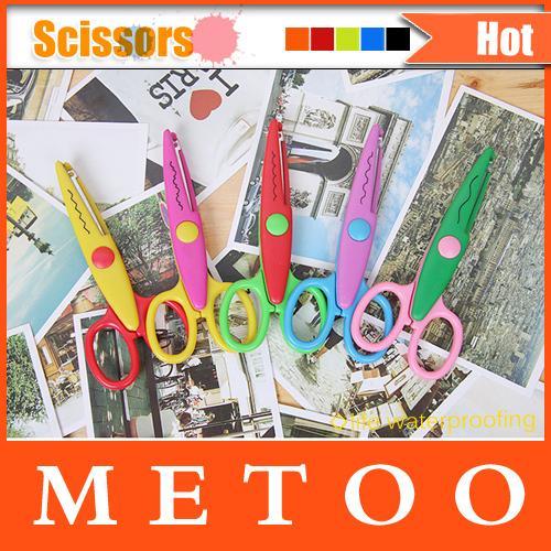 NEW Arrival Design Decorative Wave Lace Edge Craft School Scissors DIY for Scrapbook Handmade Kids Artwork Card Safe(China (Mainland))