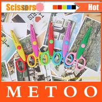 NEW Arrival Design Decorative Wave Lace Edge Craft School Scissors DIY for Scrapbook Handmade Kids Artwork Card Safe