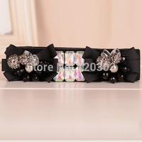 New Arrival 2014 Fashion Luxury Ribbon Acylic Crystal Beaded Rhionestone Belts For Women Thin Cummerbunds Cintos Femininos