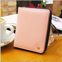 New 2014 New arrival Korean Style brand women cute mini leather wallets small purse carteira feminina ,Free Shipping