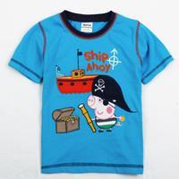 peppa pig clothing boys tunic tops children boys clothing new 2014 summer dress retail fashion kids wear boys t-shirt