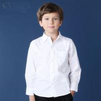 Children 's clothes new male in a white shirt long-sleeved cotton shirt children  shirt