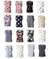 2014 Fashion Summer Women's Clothes Chiffon Sleeveless Causal Chiffon blouse Sundress 16 colors ,Free Shipping Drop shipping