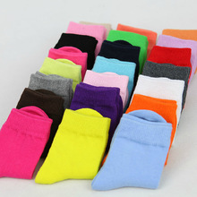 16 Colors Children Socks Spring Autumn Cute Candy Color Cotton In Tube Socks For Baby Girls