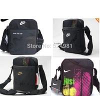 Sports bag, small black bag vertical section of men's Shoulder Bag Messenger