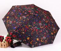 2014 free shipping lovely circus automatic sunny and rainy umbrella fashion travel umbrella Rechar007