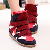 L0614, Isabel Marant Genuine Leather Size(35~40) New 48 style Boots Height Increasing women Sneakers Shoes Free Shipping