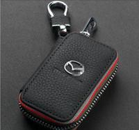 Genuine Leather Remote Control Bag For Mazda MAZDA 3 MAZDA6 Demio MX-5 CX-7 CX5 RX-8 key Bag Key Case