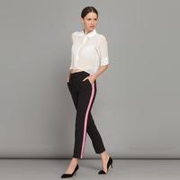 YIGELILA 5136 Black Mid Waist Casual Style Skinny Women Pencil Pants Capris 2014 Free Shipping