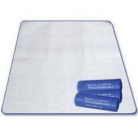 Outdoor camping folding picnic mat moisture pad moisture pad 200 *150CM sided aluminum moisture pad wholesale