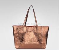 2014 Summer Fashion Shopping Bag 100% First Layer Cowhide Genuine Leather Women Shoulder Bag Large Tote Bag Handbag Famous Brand