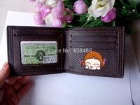 2014 Famous Brand Wallet Genuine Leather Cowhide Men Wallet Black& Coffee Men Short Wallet Male Purse MBM143