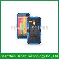 High Quality Slim Armor 2 in 1 PC&TPU Stand Holder cell phones case cover for Motorola Moto G for Motorola Moto E
