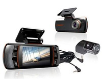"Original A1 Allwinner dual camera car DVR Full HD 1920x1080p+2.7"" LCD+External IR Rear Camera+ Night vision + G-sensor"
