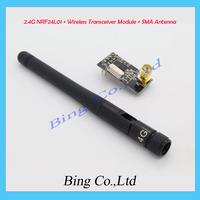 3PCS/LOT 2.4G NRF24L01 + Wireless Transceiver Module + SMA Antenna