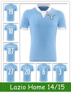 14/15 S.S. Lazio #11 Klose Blue soccer Jersey Home Football Shirt size S-XL