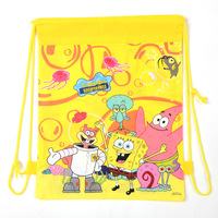 Free Shipping 2014 Hot! New! Children Backpacks Cartoon Two Sides Printed School Bags For Kids  Non-woven Drawstring Bags  Q-011