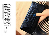 New fashionhigh quality cowhide purse female genuine leather crocodile pattern long design women's wallet card holder wallet