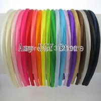 Free shipping!,100% handmade Satin ribbon covered Hairbands,Fashion Hair Band,baby gril Hair accessories baby headband 40pcs/lot
